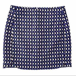 J. CREW Tweed Geometric Patterned Miniskirt 4 EUC